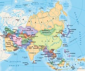 Asia Continentul Galben Calator Pe Mapamond