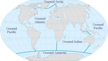 Harta cu oceanele terei